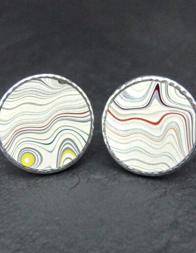 Sterling-Silver-_-Motor-Agate-Fordite-Round-Cufflinks-1409