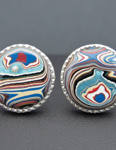Sterling-Silver-_-Motor-Agate-Fordite-Round-Cufflinks-1548