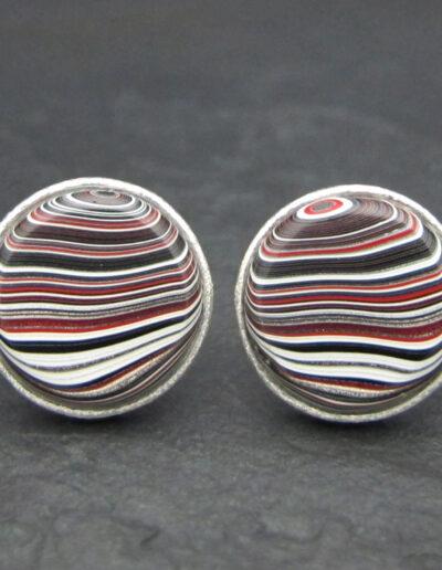 Sterling-Silver-_-Motor-Agate-Fordite-Round-Cufflinks-1573