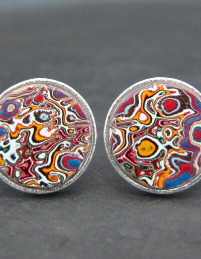 Sterling-Silver-_-Motor-Agate-Fordite-Round-Cufflinks-1584