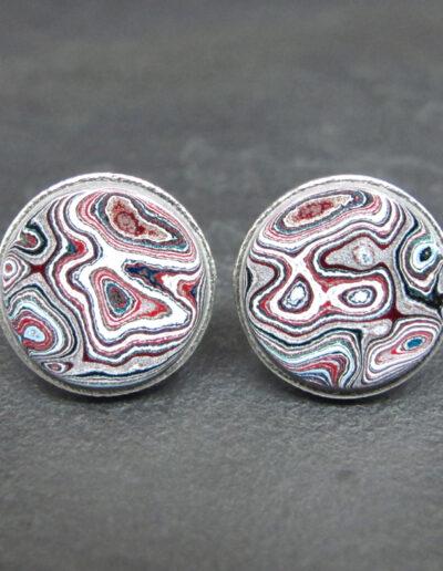 Sterling-Silver-_-Motor-Agate-Fordite-Round-Cufflinks-1726