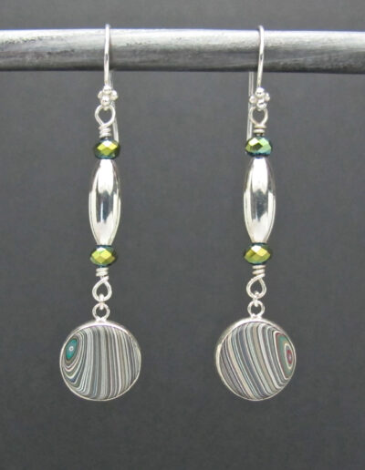 Sterling-Silver-and-Motor-Agate-Fordite-Beaded-Earrings-1436