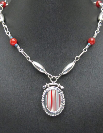 Sterling-Silver-and-Motor-Agate-Fordite-Beaded-Necklace-1437-2