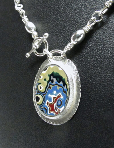 Sterling-Silver-and-Motor-Agate-Fordite-Beaded-Necklace-1558-3