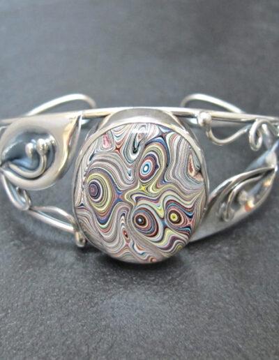 Sterling-Silver-and-Motor-Agate-Fordite-Bracelet-1177-1