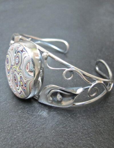 Sterling-Silver-and-Motor-Agate-Fordite-Bracelet-1177-2