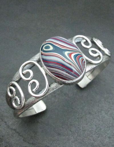 Sterling-Silver-and-Motor-Agate-Fordite-Bracelet-1697-1