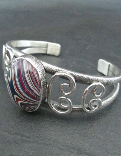 Sterling-Silver-and-Motor-Agate-Fordite-Bracelet-1697-2