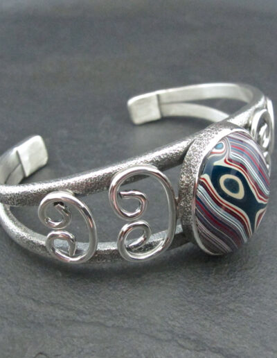 Sterling-Silver-and-Motor-Agate-Fordite-Bracelet-1697-4