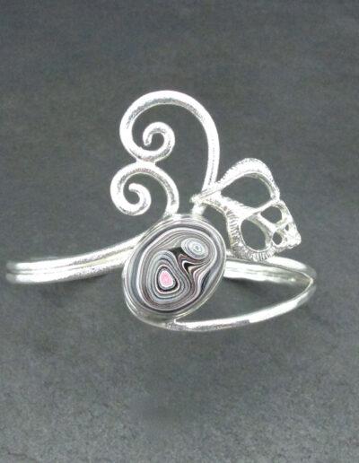 Sterling-Silver-and-Motor-Agate-Fordite-Bracelet-1707-2
