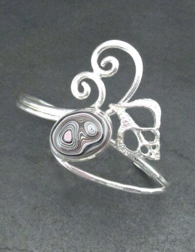 Sterling-Silver-and-Motor-Agate-Fordite-Bracelet-1707-3