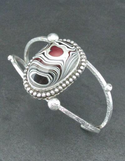 Sterling-Silver-and-Motor-Agate-Fordite-Bracelet-1708-3