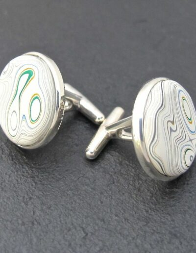 Sterling-Silver-and-Motor-Agate-Fordite-Cufflinks-2-1157