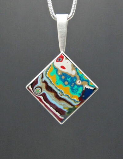 Sterling-Silver-and-Motor-Agate-Fordite-Diamond-Necklace-1422
