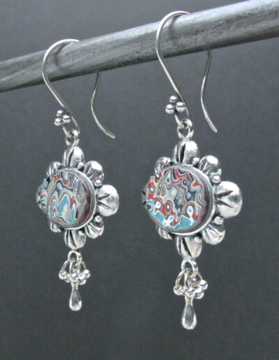 Sterling-Silver-and-Motor-Agate-Fordite-Earrings-1521-2