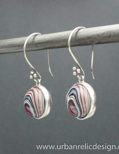 Sterling-Silver-and-Motor-Agate-Fordite-Earrings-1776-1
