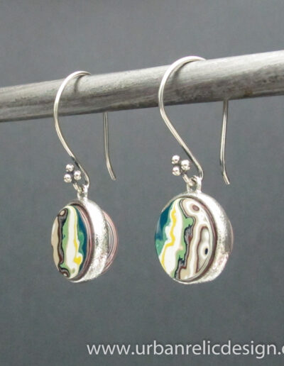 Sterling-Silver-and-Motor-Agate-Fordite-Earrings-1776-2