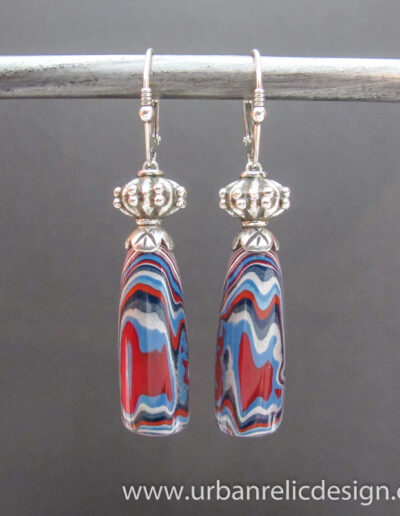 Sterling-Silver-and-Motor-Agate-Fordite-Earrings-1778-1