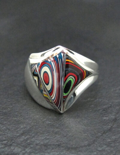 Sterling-Silver-and-Motor-Agate-Fordite-Large-Freeform-Mens-Ring-1423-1