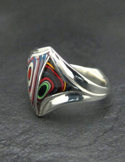Sterling-Silver-and-Motor-Agate-Fordite-Large-Freeform-Mens-Ring-1423-2