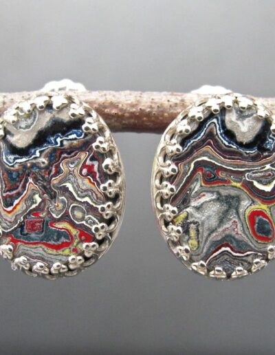 Sterling-Silver-and-Motor-Agate-Fordite-Post-Earrings-1150