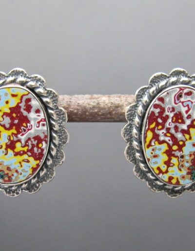Sterling-Silver-and-Motor-Agate-Fordite-Post-Earrings-1151