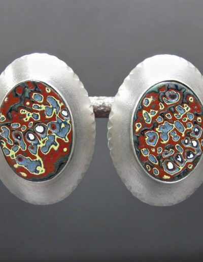 Sterling-Silver-and-Motor-Agate-Fordite-Post-Earrings-1152