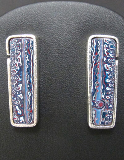 Sterling-Silver-and-Motor-Agate-Fordite-Post-Earrings-1273-1