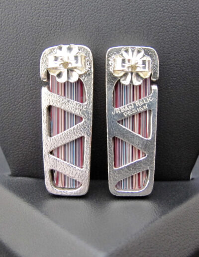 Sterling-Silver-and-Motor-Agate-Fordite-Post-Earrings-1273-2