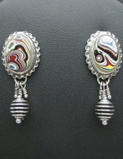 Sterling-Silver-and-Motor-Agate-Fordite-Post-Earrings-1557-1