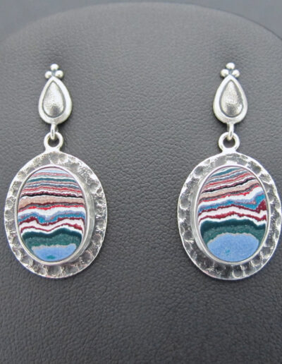 Sterling-Silver-and-Motor-Agate-Fordite-Post-Earrings-1668-1