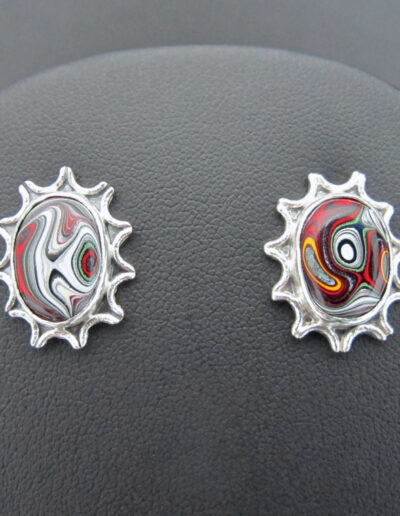 Sterling-Silver-and-Motor-Agate-Fordite-Post-Earrings-1669-1