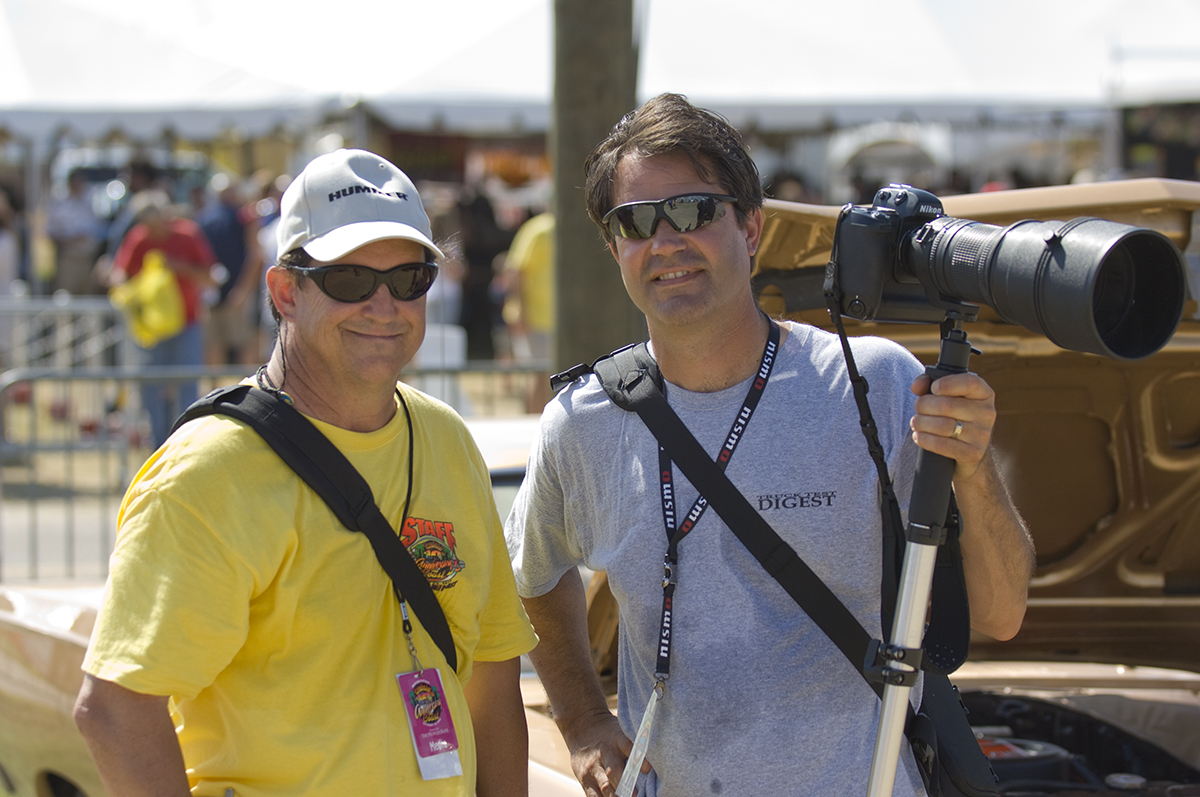 Photographers Bruce Smith and Larry Walton
