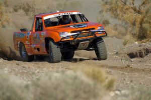 Baja Protruck Off-Road Racing Series team meets with Ivan Stewart at a session in Havasu