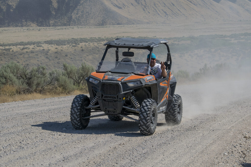 Polaris RZR south of Bliss