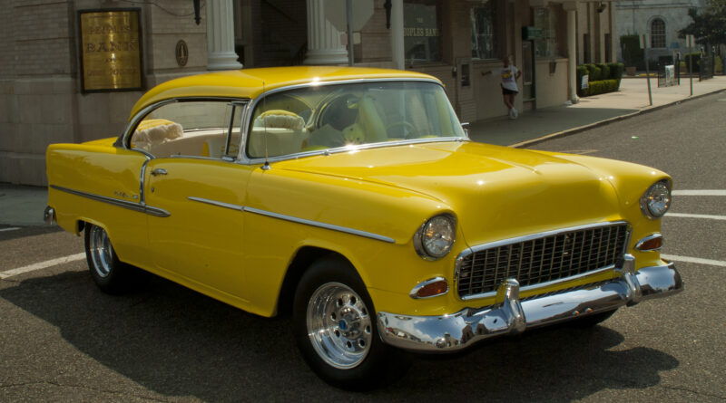 Classic Cars 1955 Chevrolet Bel Air yellow