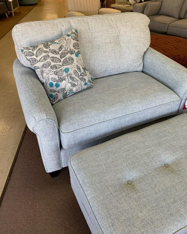These chair and a half + ottomans are perfect to cozy up on!