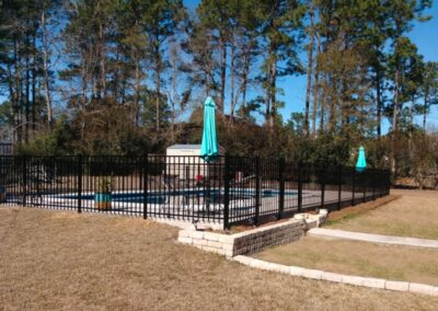 ornamental low pool fence