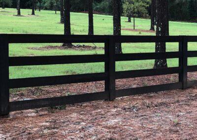4 bar creosote wood fence