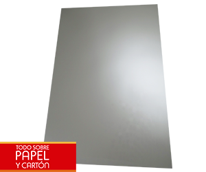 Papel sintético graffiti metalic silver