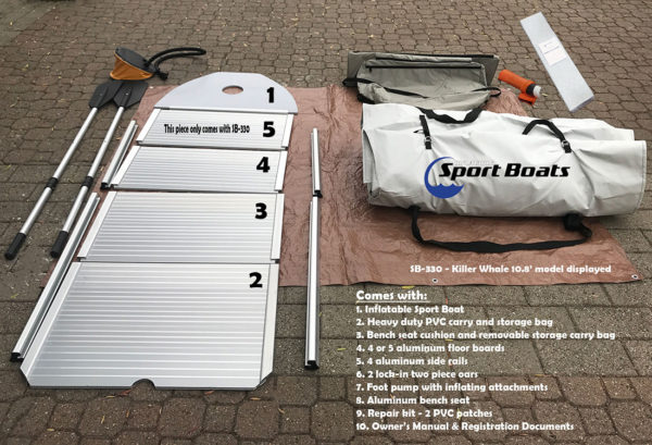 included with inflatable sport boat