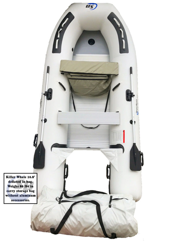 inflatable sport boat killer whale 10.8' in bag