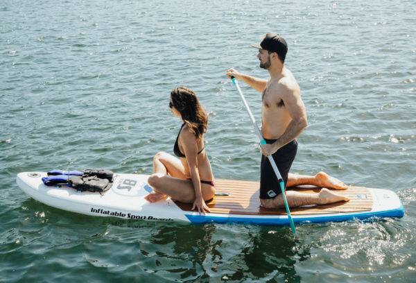 paddle board with 2 people
