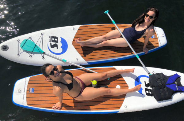 Inflatable Sport board AIRBO 10.6' ISUP with 2 girls