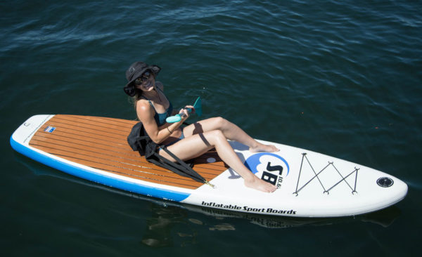 ISUP sport board with kayak attachment