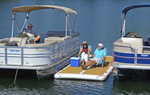 inflatable dock for patio boats