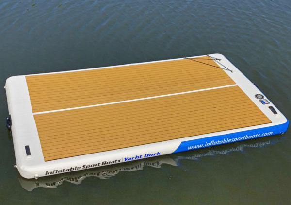 yacht dock by inflatable sport boats