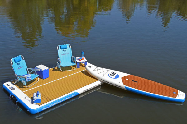 inflatable platform with airbo inflatable sport board isup