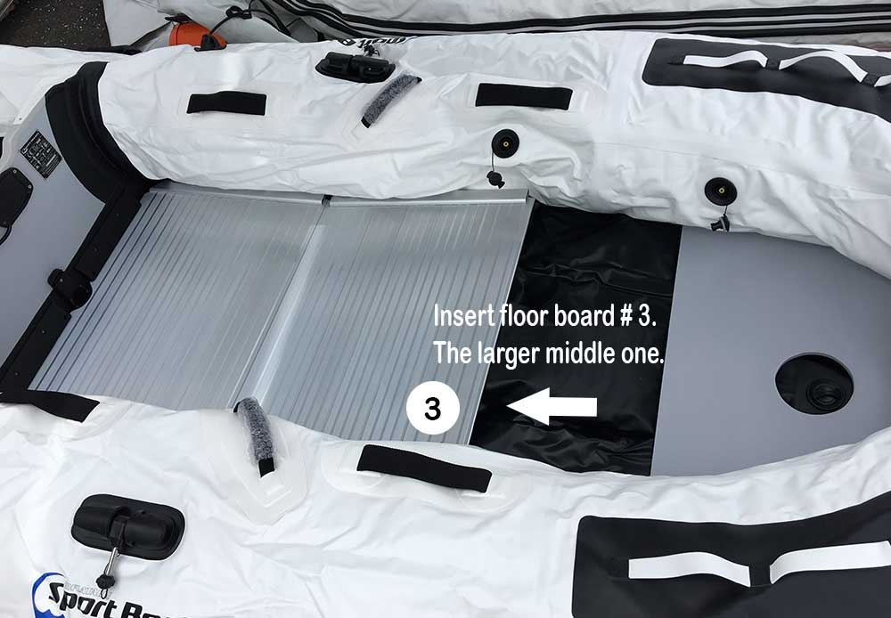 assembling a inflatable sport boat