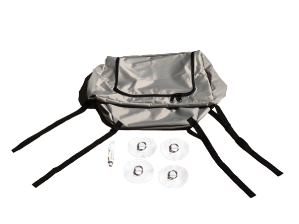 Bow triangle bag for inflatable boat bow storage